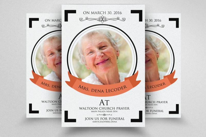 Funeral Flyer Template By Designhub TheHungryJPEG