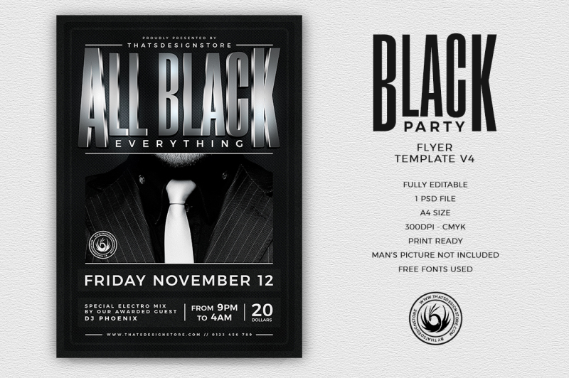 Black Party Flyer Template V4 By Thats Design Store TheHungryJPEG