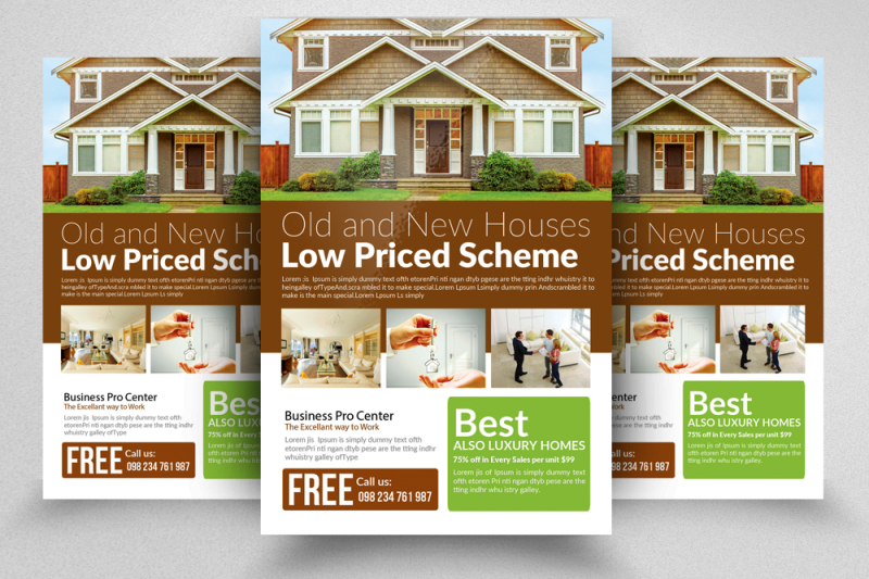 Professional Real Estate Flyer Template By Designhub TheHungryJPEG