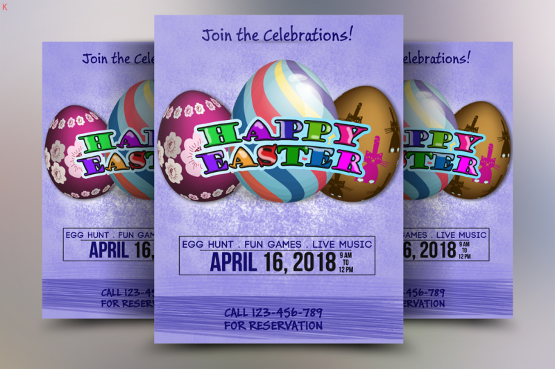 Easter Flyer Template By Ayme Designs TheHungryJPEG