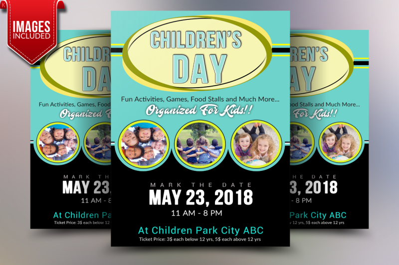 Children\u0027s Day Flyer Template By Ayme Designs TheHungryJPEG