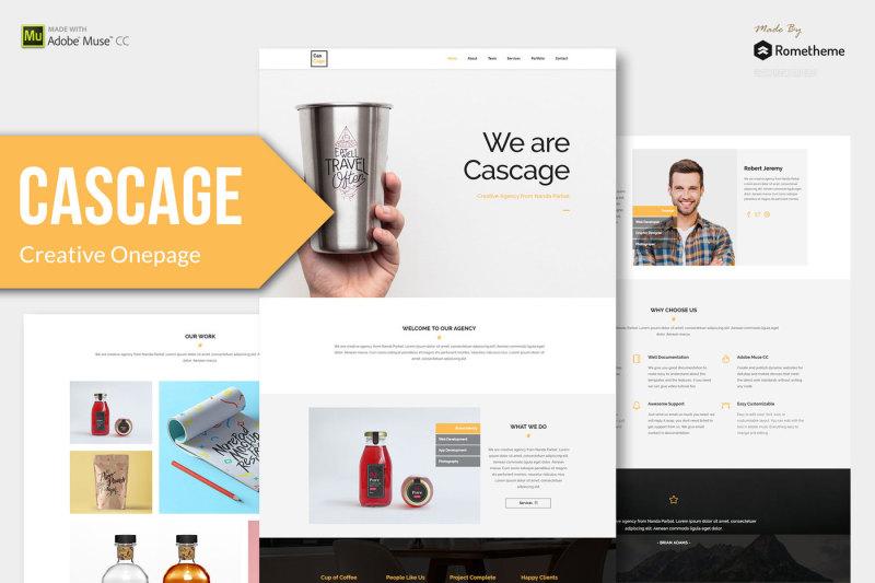 Cascage - Adobe Muse Template By Rometheme TheHungryJPEG