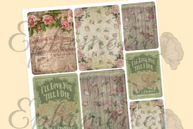 Free Printable JOURNAL CARDS - La Rose - Romantic Roses Printable