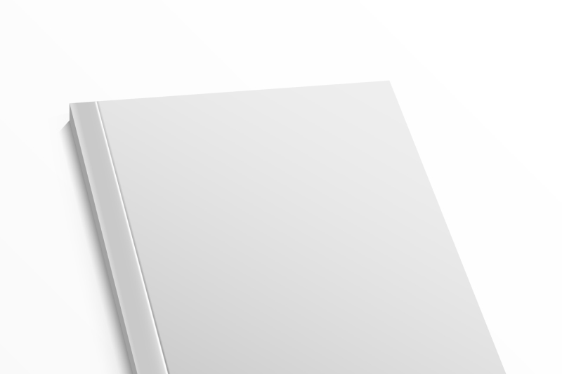 Blank magazine cover template on white background Vector mock up By
