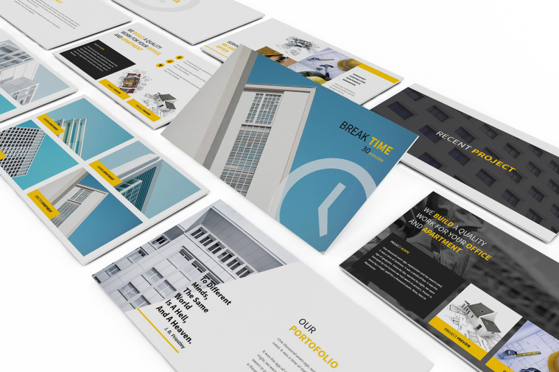 Construction Powerpoint Presentation By giantdesign TheHungryJPEG
