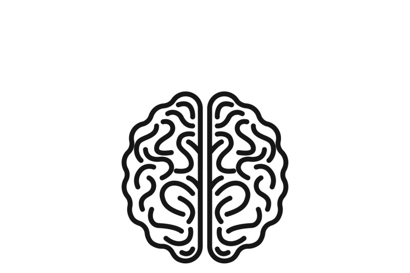 Brain vector icon By Microvector TheHungryJPEG