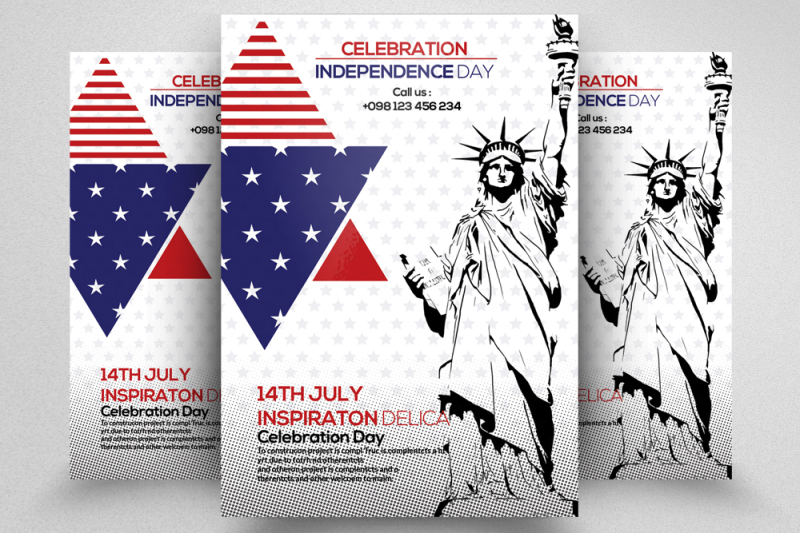American Independence Day Flyer By Designhub TheHungryJPEG