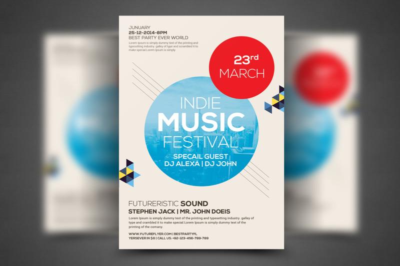 Modern Beats Flyer Template By Business Templates TheHungryJPEG