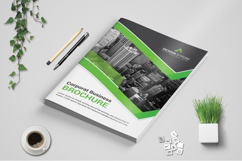 Corporat Bi-Fold brochure Template By Design Strom TheHungryJPEG