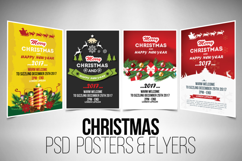 4 Christmas Event Flyer Template By Designhub TheHungryJPEG