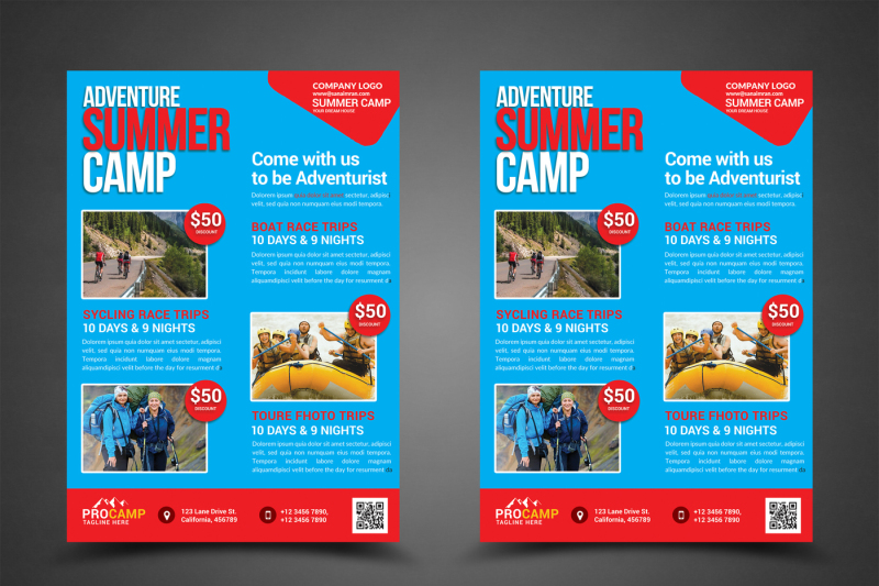 Adventure Summer Camp Flyer Template By sanaimran TheHungryJPEG