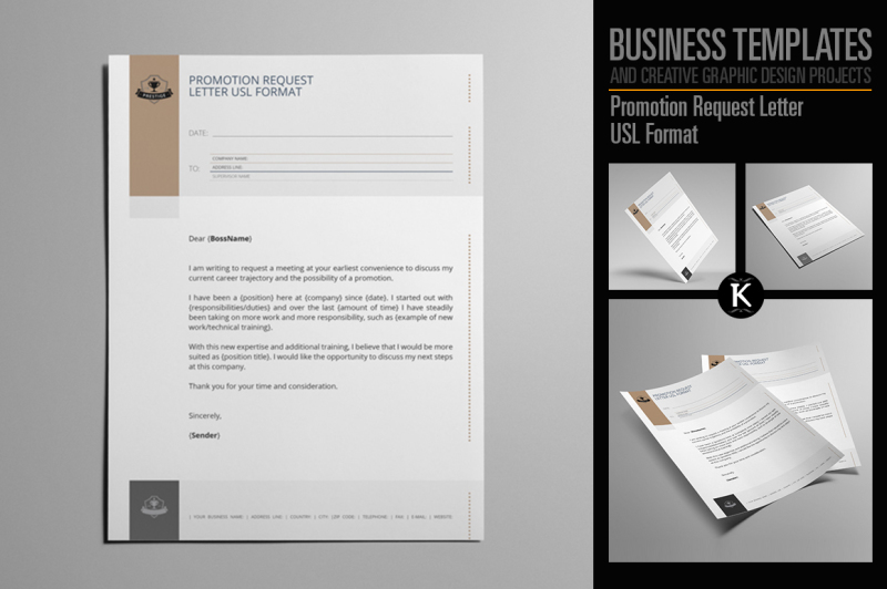 Promotion Request Letter USL Format By Keboto TheHungryJPEG