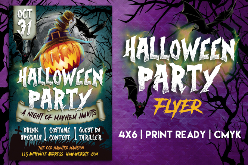 Halloween Party Flyer By Lucion Creative TheHungryJPEG