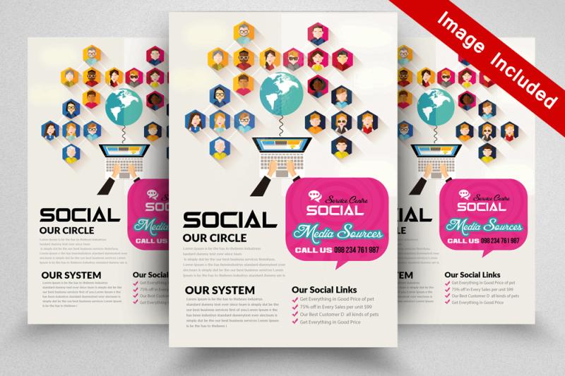 10 Social Media Flyer Template Bundle By Designhub TheHungryJPEG
