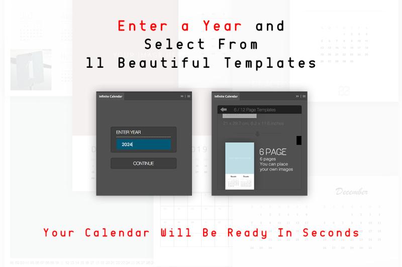 Infinite Calendar - Calendar Generator For All Years By DesignRocket