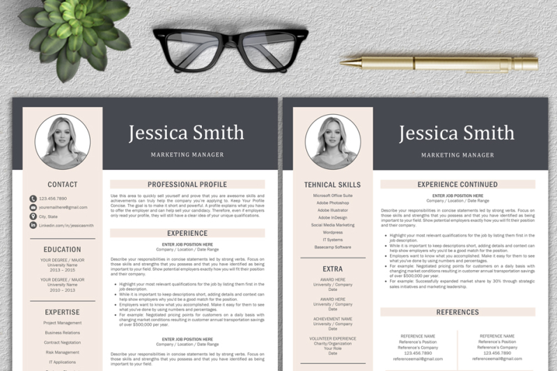 Resume Template / CV Template / Professional Resume / Modern CV