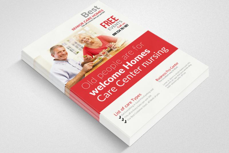 Best Senior Care Home Flyers By Designhub TheHungryJPEG