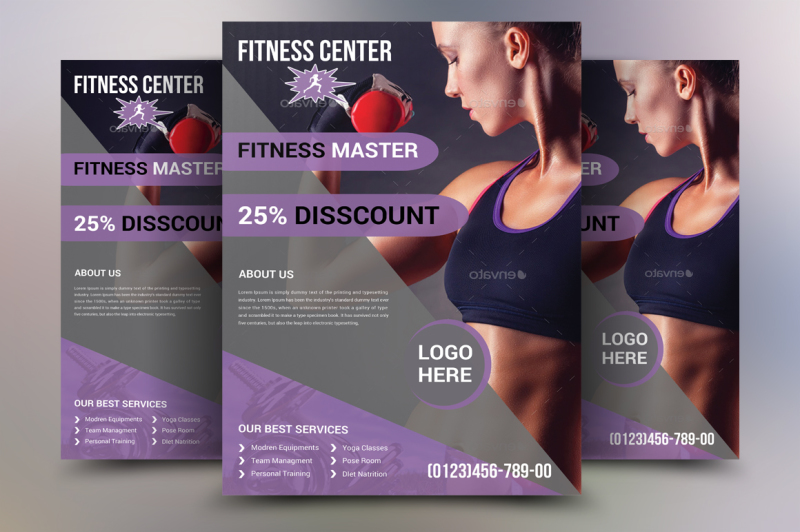 Fitness Flyer Template - M1 By Ayme Designs TheHungryJPEG