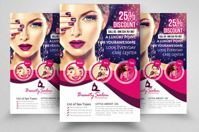 10 Beauty Salon Flyer Template By Designhub TheHungryJPEG