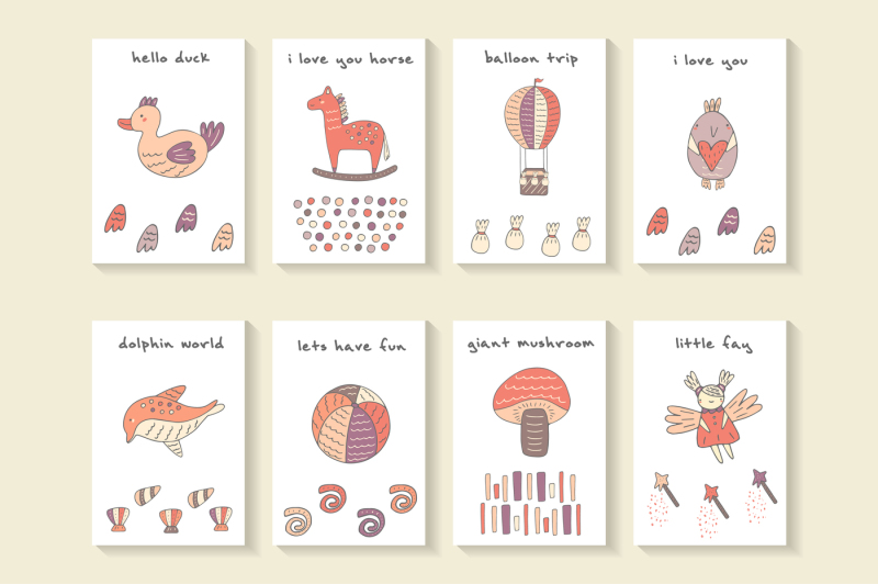 Cute Postcards By Veresk TheHungryJPEG