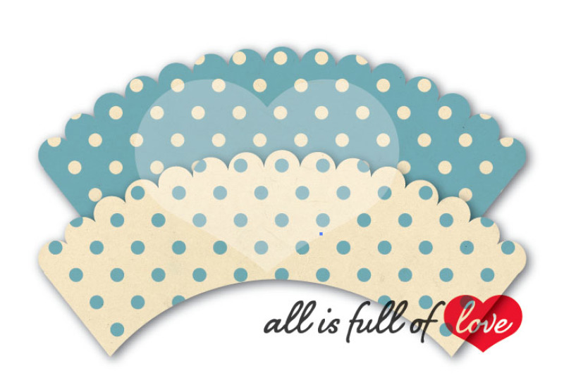 Baby Blue Polka Dots Cupcake Wrappers Printable By All is full of