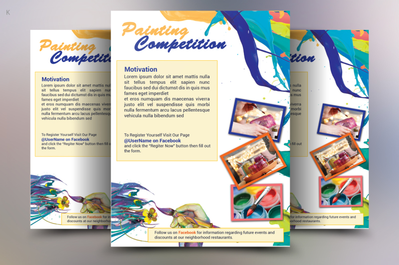 Painting Competition Flyer Template By Ayme Designs TheHungryJPEG