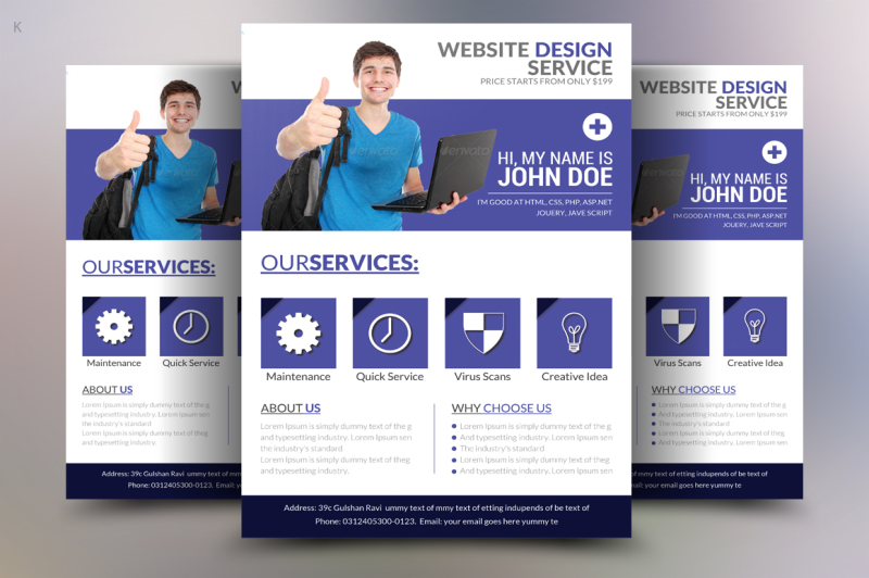 Web Designer Flyer Template By Ayme Designs TheHungryJPEG