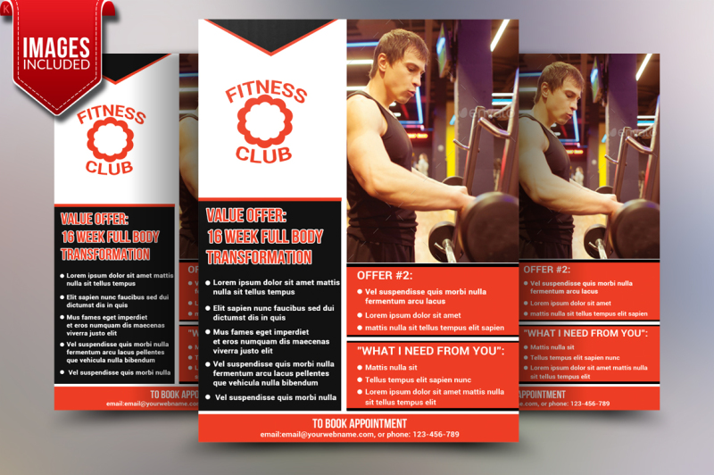 Fitness Flyer Template By Ayme Designs TheHungryJPEG