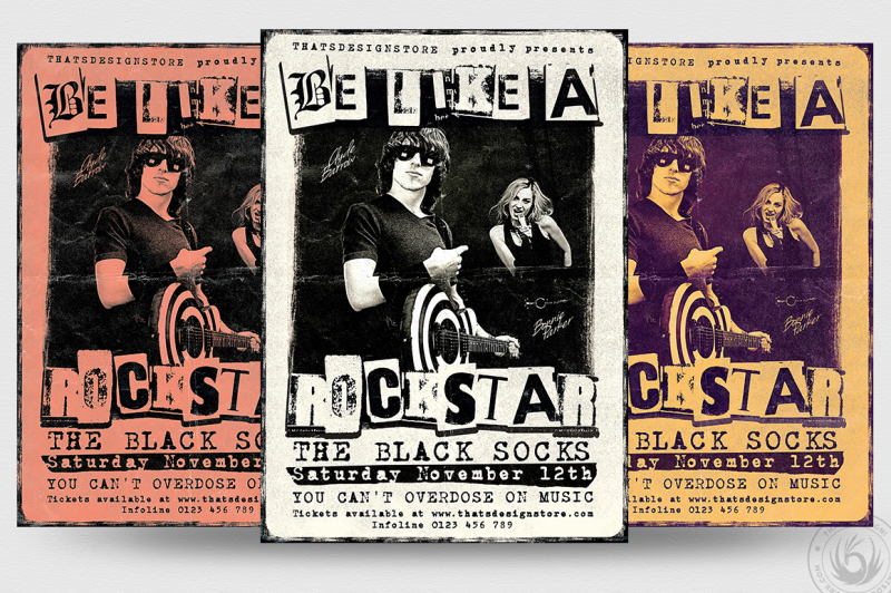 Live Concert Flyer Template V7 By Thats Design Store TheHungryJPEG