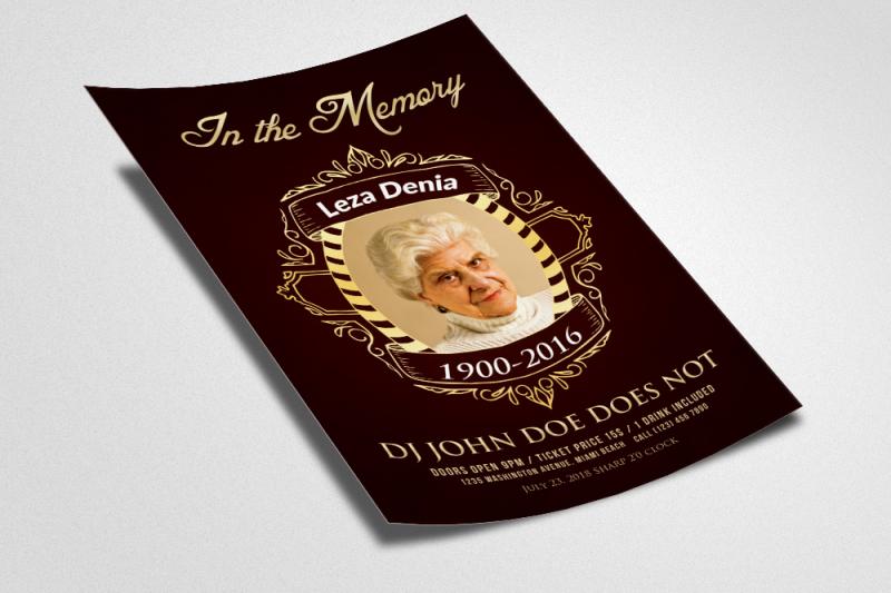 Memorial Flyer Template By Designhub TheHungryJPEG