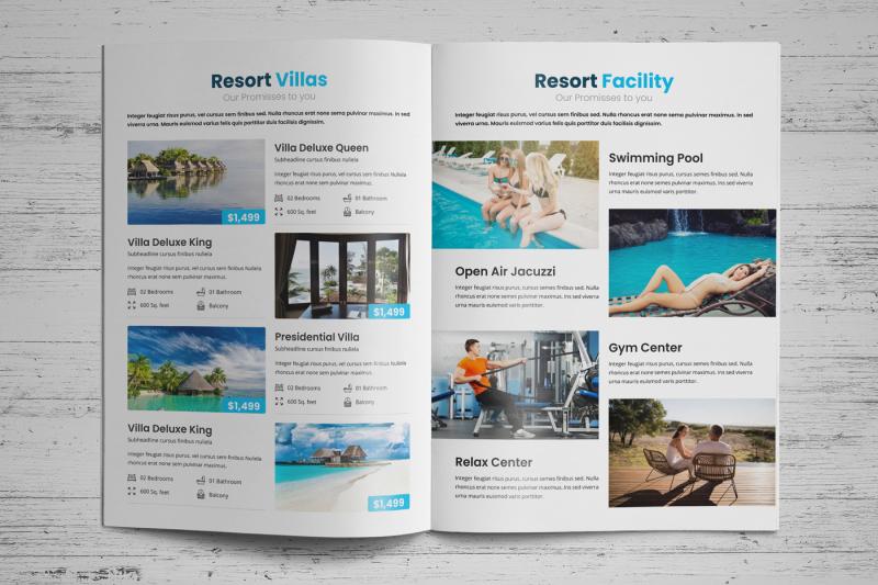 Travel Resort Brochure Design v1 By Jabinh7 TheHungryJPEG
