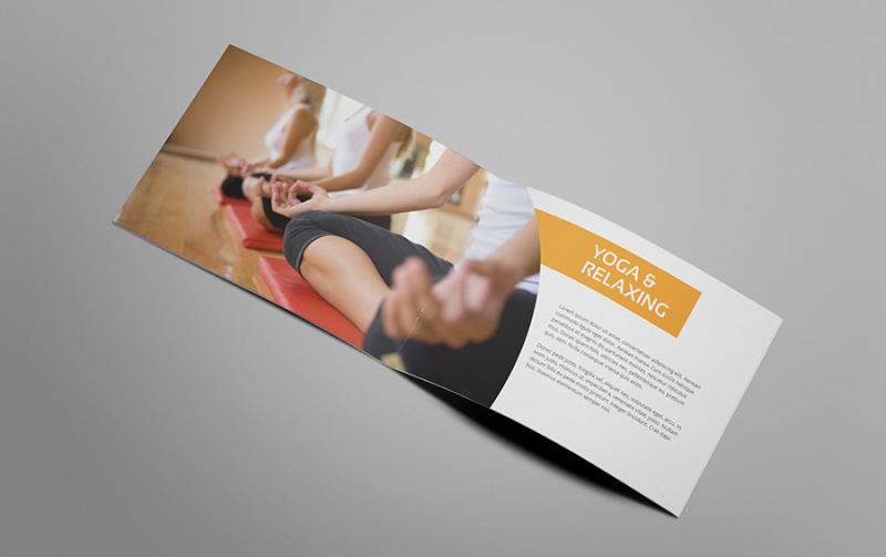 Gymmic - A5 Fitness and Gym Brochure By giantdesign TheHungryJPEG