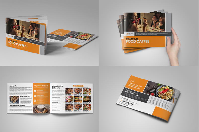 Food Menu Restaurant Brochure Bundle By Jabinh7 TheHungryJPEG