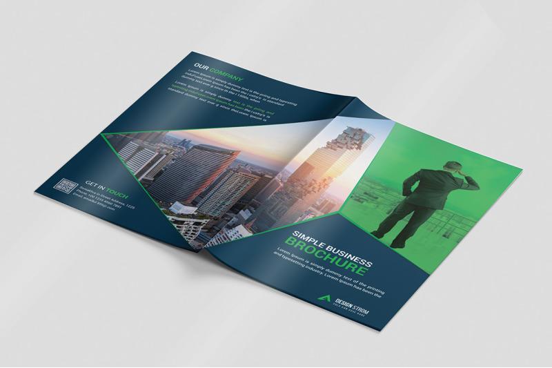 Creative Business Bi-Fold Brochure Template By Design Strom