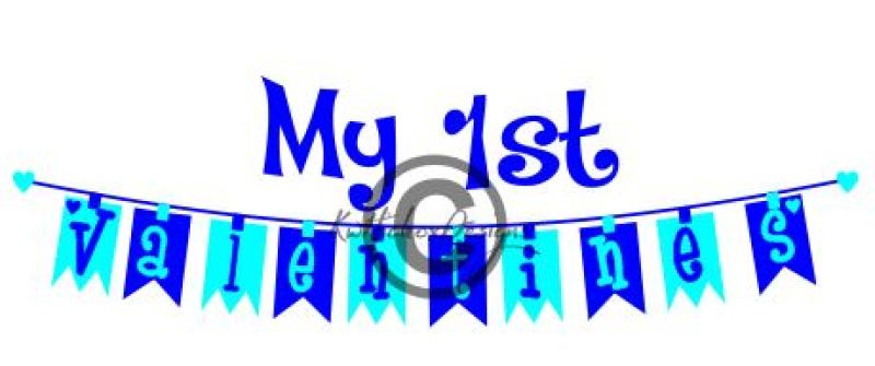 First Birthday Banner Bunting Svg, Dxf By Kerry Hickox