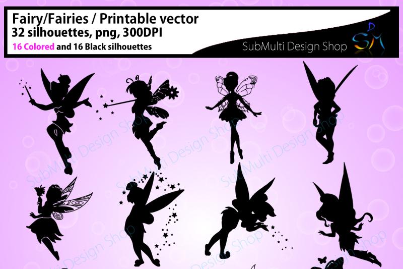 fairy silhouette /fairies / fairy /SVG / EPS /PNG/ Dxf /fairies