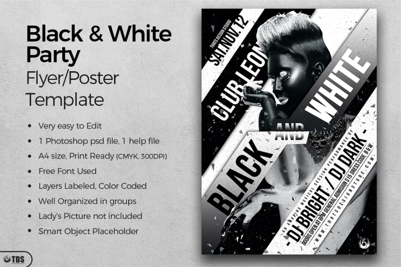 Black and White Party Flyer Template By Thats Design Store