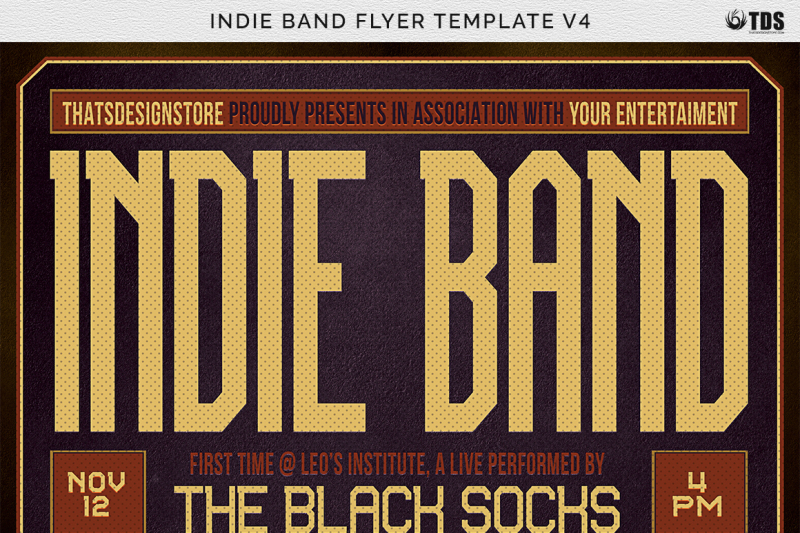 Indie Band Flyer Template V4 By Thats Design Store TheHungryJPEG