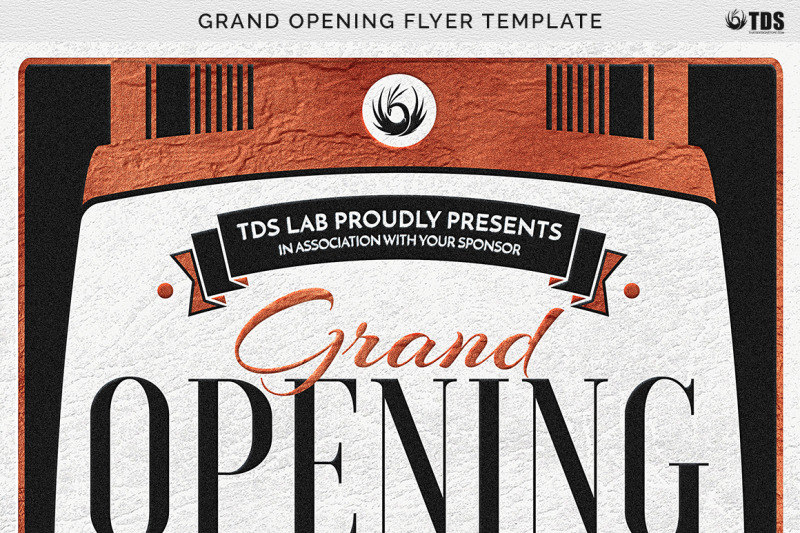 Grand Opening Flyer Template By Thats Design Store TheHungryJPEG