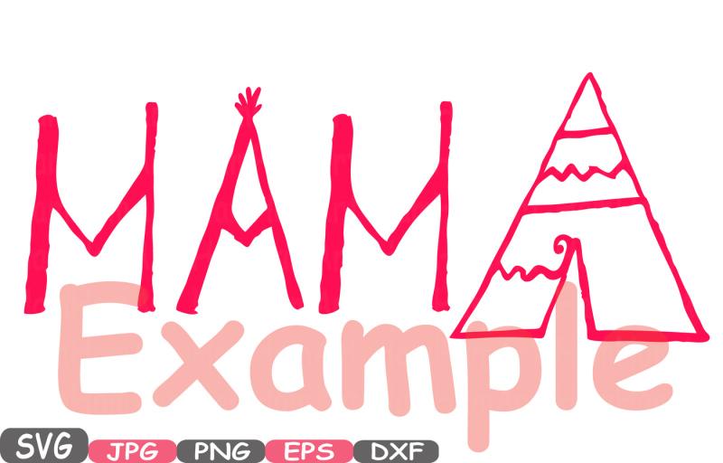 Mama Bear Silhouette SVG Cutting Files Digital Clip Art SVG Graphic
