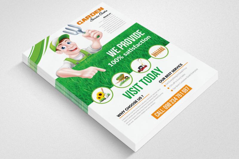 Garden Service Flyer Templates By Designhub TheHungryJPEG
