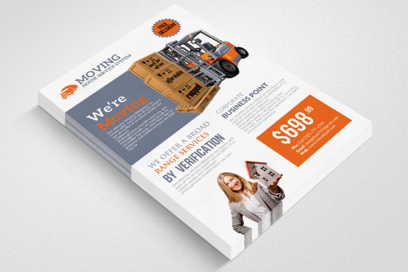 Moving House Service Flyer Templates By Designhub TheHungryJPEG