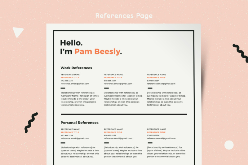Resume Template Modern Resume Resume PDF CV Template Resume