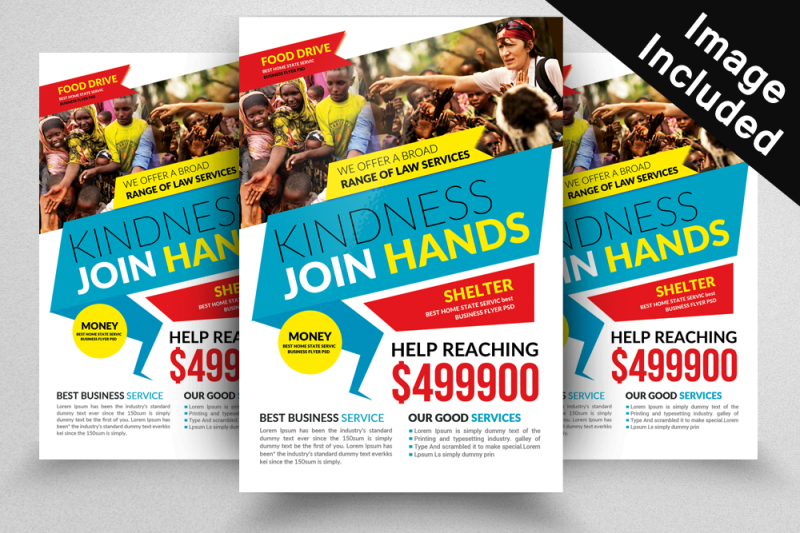 10 Fundraising Flyer Bundle By Designhub TheHungryJPEG
