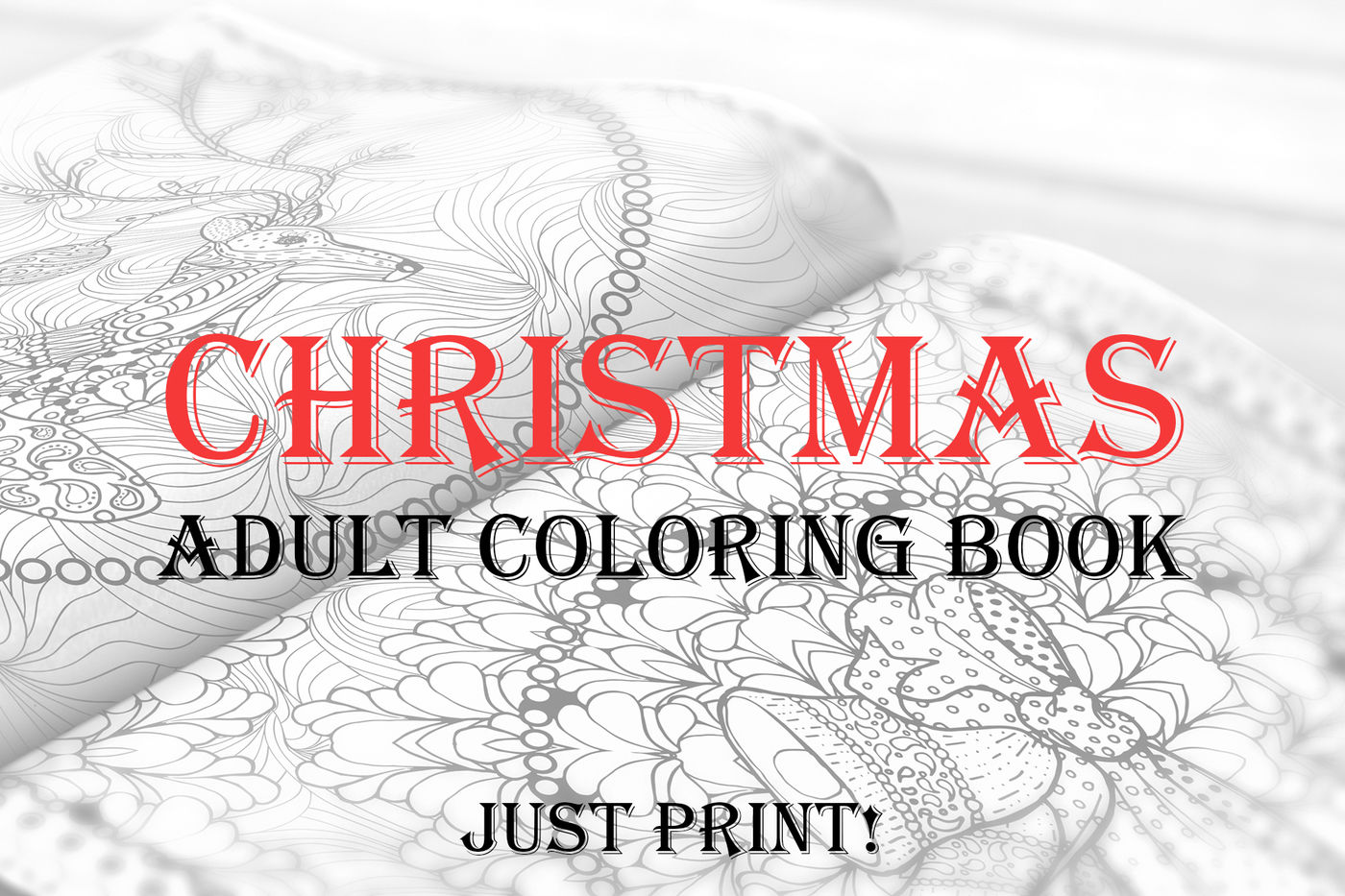 Calligraphy Fonts Books Pdf Christmas Adult Coloring Book Pdf Eps Jpeg By Ilonitta
