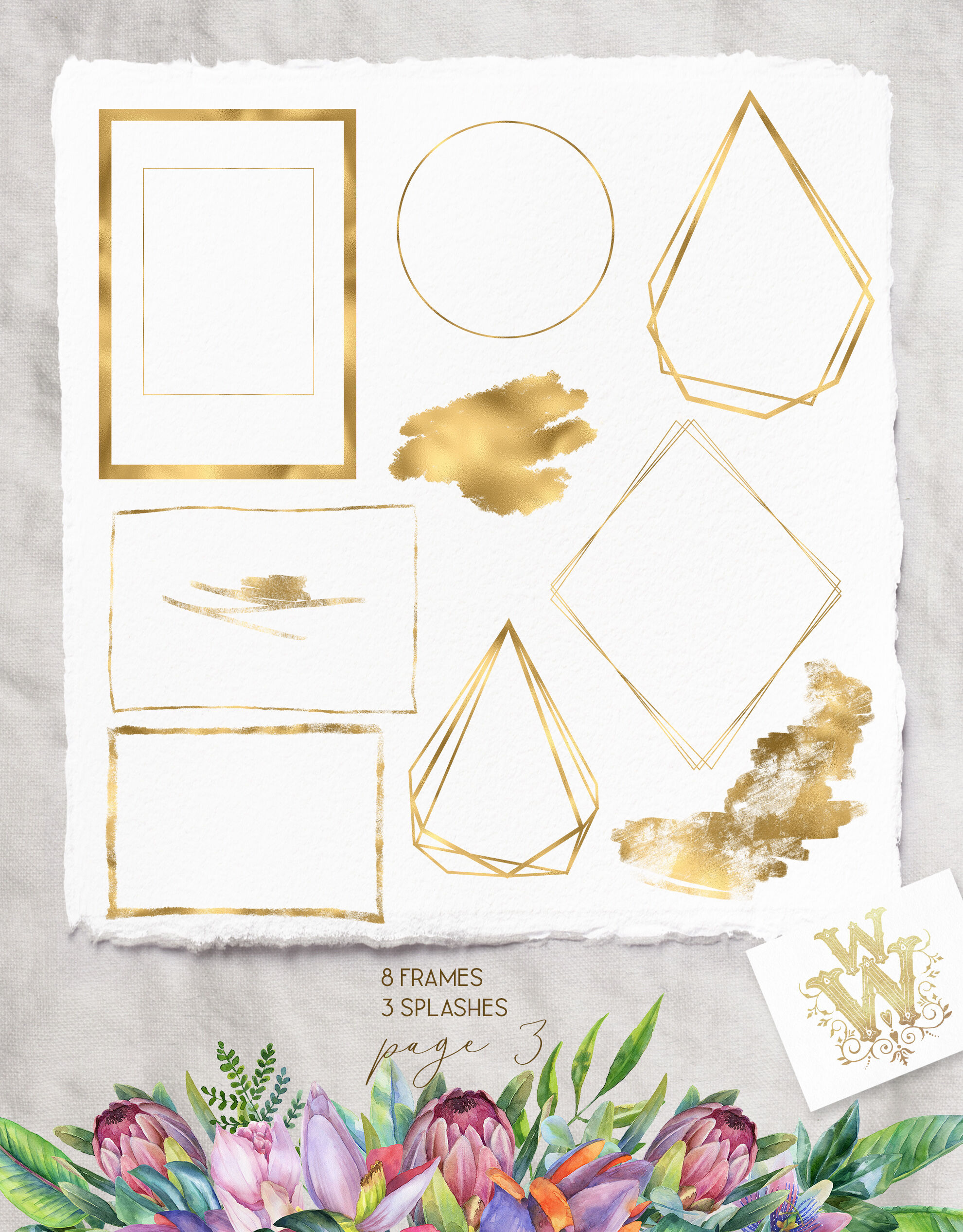 image about Watercolor Floral Border Paper Printable titled Watercolor Floral Clipart Aspects And Compositions - Resume