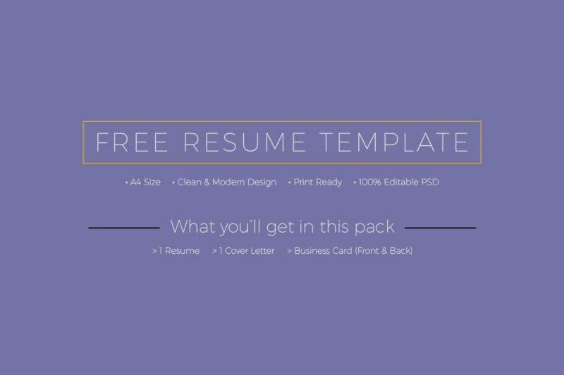 FREE Resume + Cover Letter + Business Cards Templates By