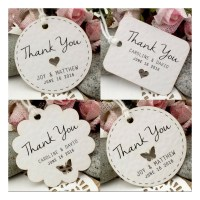 Personalized White Wedding Favor / Thank You / Gift Tags ...
