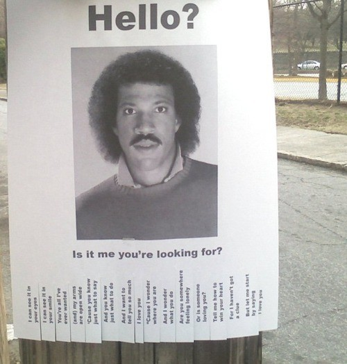 Who Made That Lionel Richie Missing Person Poster? Randy Osborne, Ex