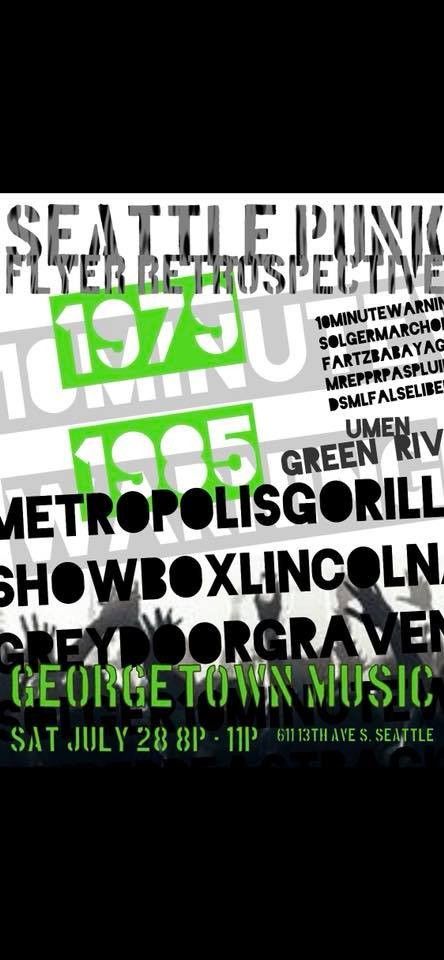 Seattle Punk Flyer Retrospective 79-85 at Georgetown Music in